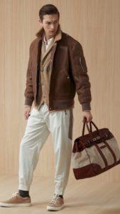 мужская одежда из кожи и меха